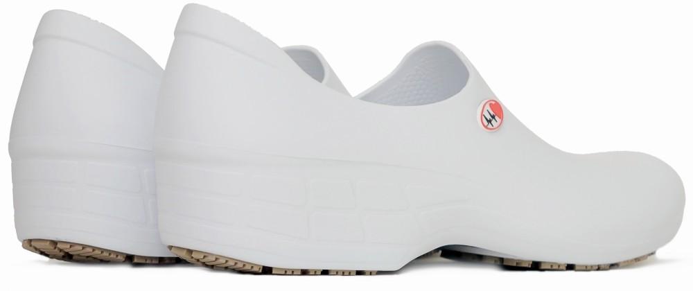 1d67ca5d96a4 Slip-resistant StickyPRO Waterproof Nursing Shoes Electro Heart - White