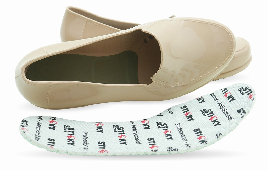 8e9117d1879 Slip Resistant Shoes for Women - Comfortable Work Shoes - ClassicPro Loafers  - Nude