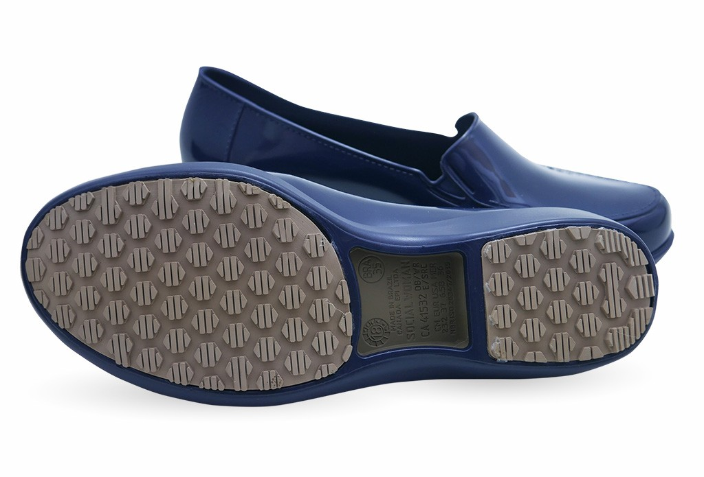 c4234edad13 Slip Resistant Shoes for Women - Comfortable Work Shoes - Waterproof - ClassicPro  Loafers - Navy