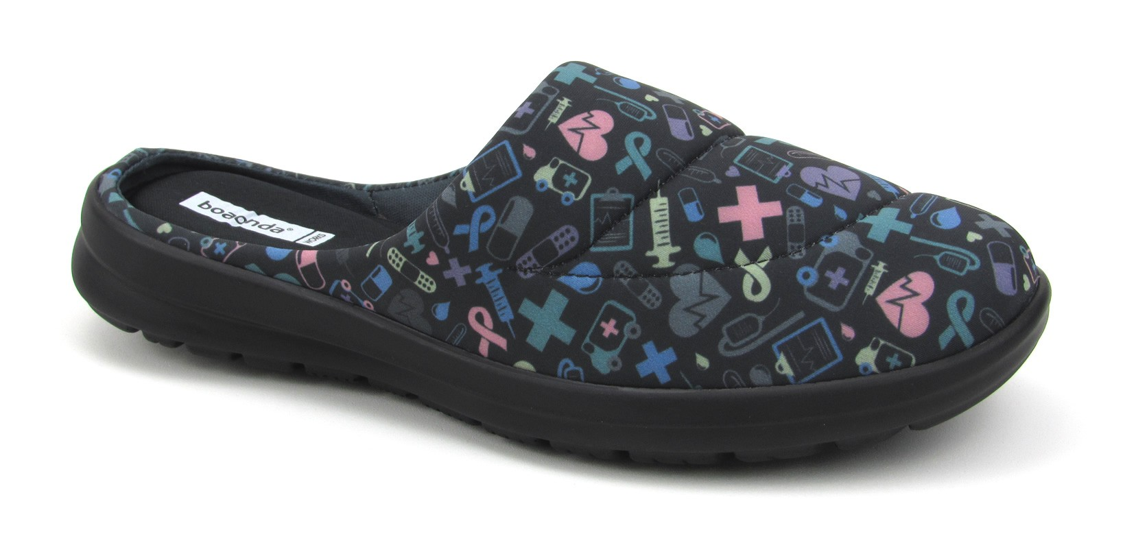 Florence Fresh - Black with Colorful Hospital Icons