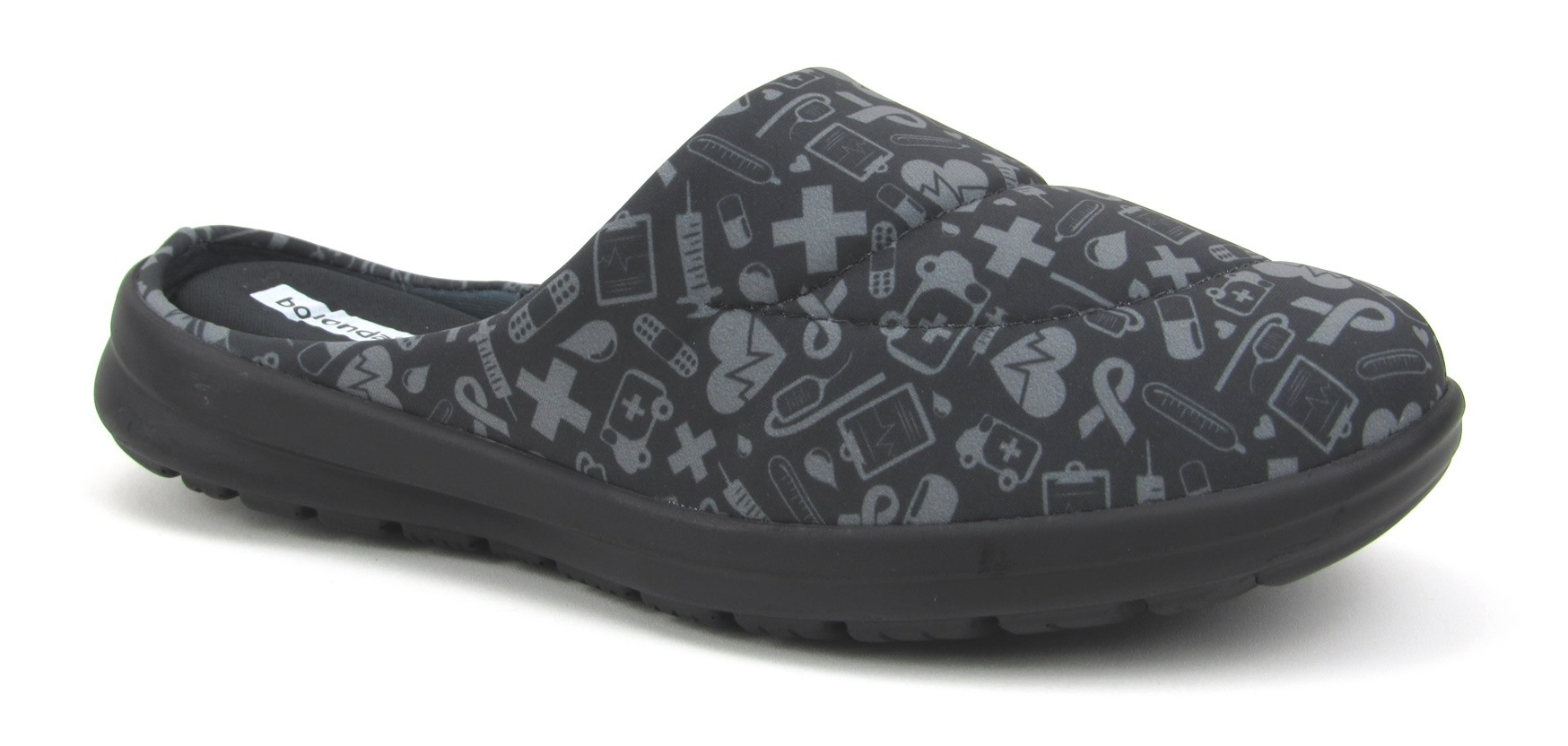 Florence Fresh - Black with Gray Hospital Icons