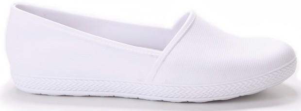 Milena Slip On Flat - White