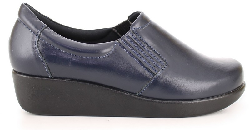 Leather Light Work Shoes 4201 - Blue