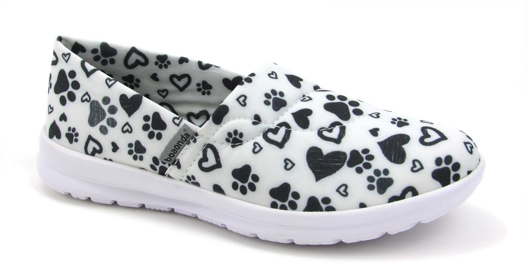 Florence Ocean - Paws and Hearts - White and Black