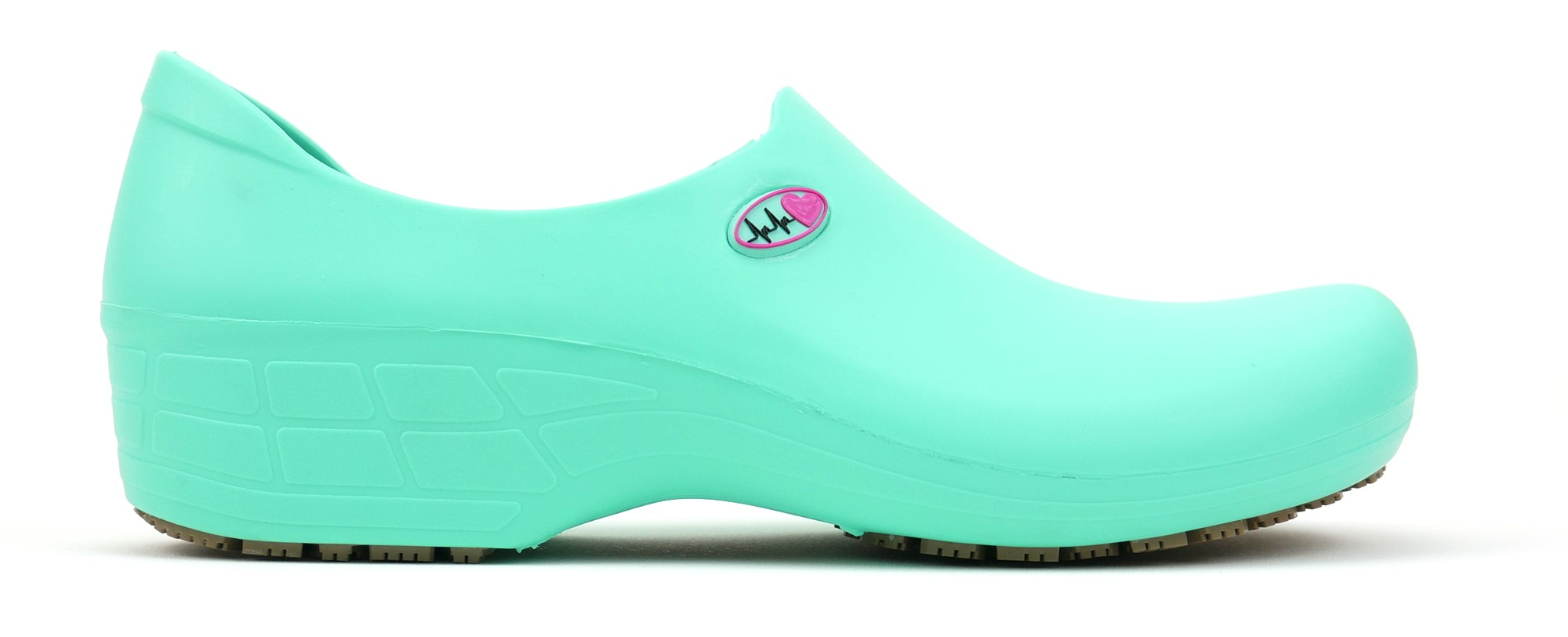 Non-Slip StickyPRO Shoes Electro Heart - Light Green/Pink