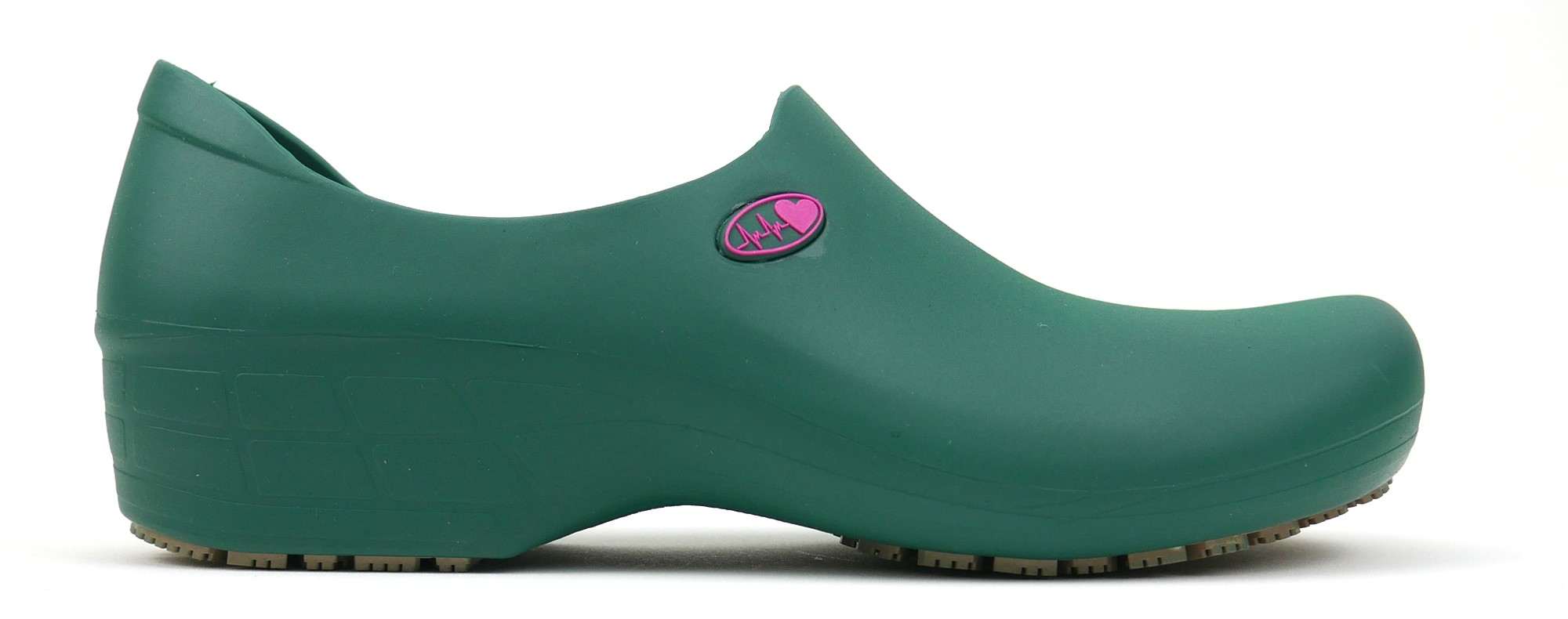Non-Slip StickyPRO Shoes Electro Heart - Dark Green/Pink
