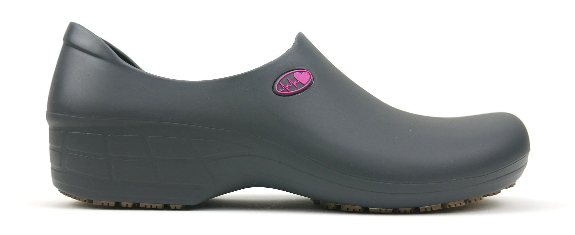 Non-Slip STICKY Shoes Electro Heart - Gray/Pink