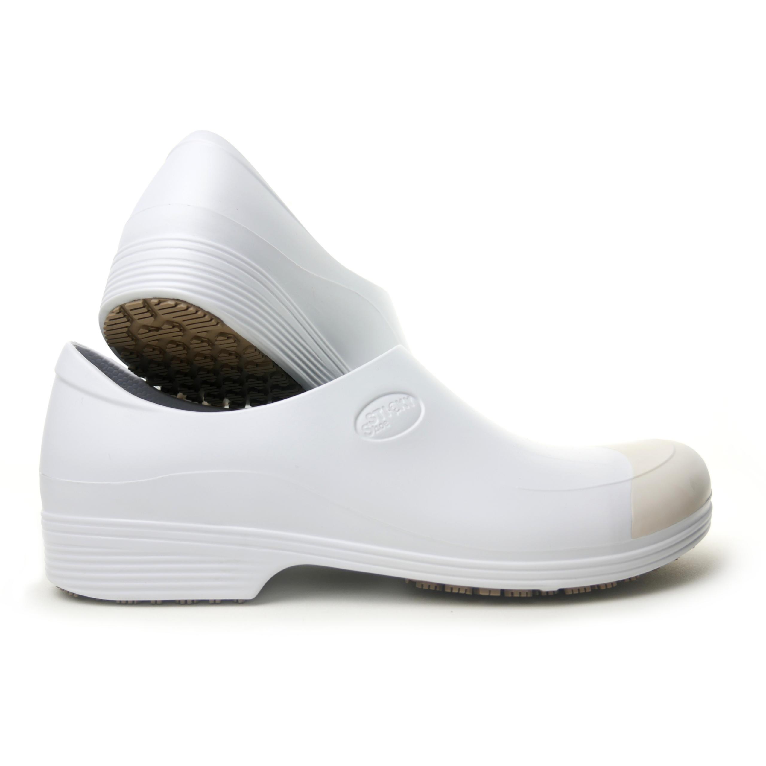 Man non-slip stickypro shoes whit toe cap - white