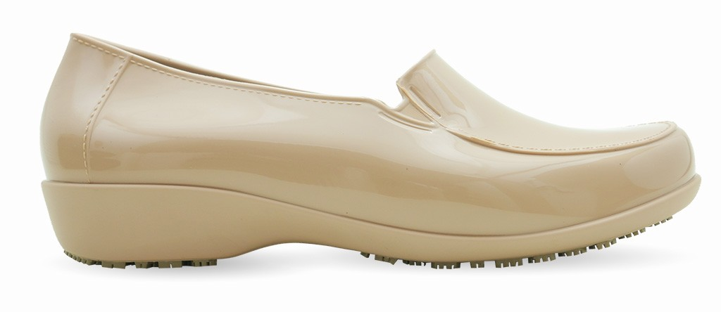 abf0c768134 Sticky Slip Resistant Shoes for Women - Comfortable Work Shoes - ClassicPro  Loafers - Nude - KeepNursing .com