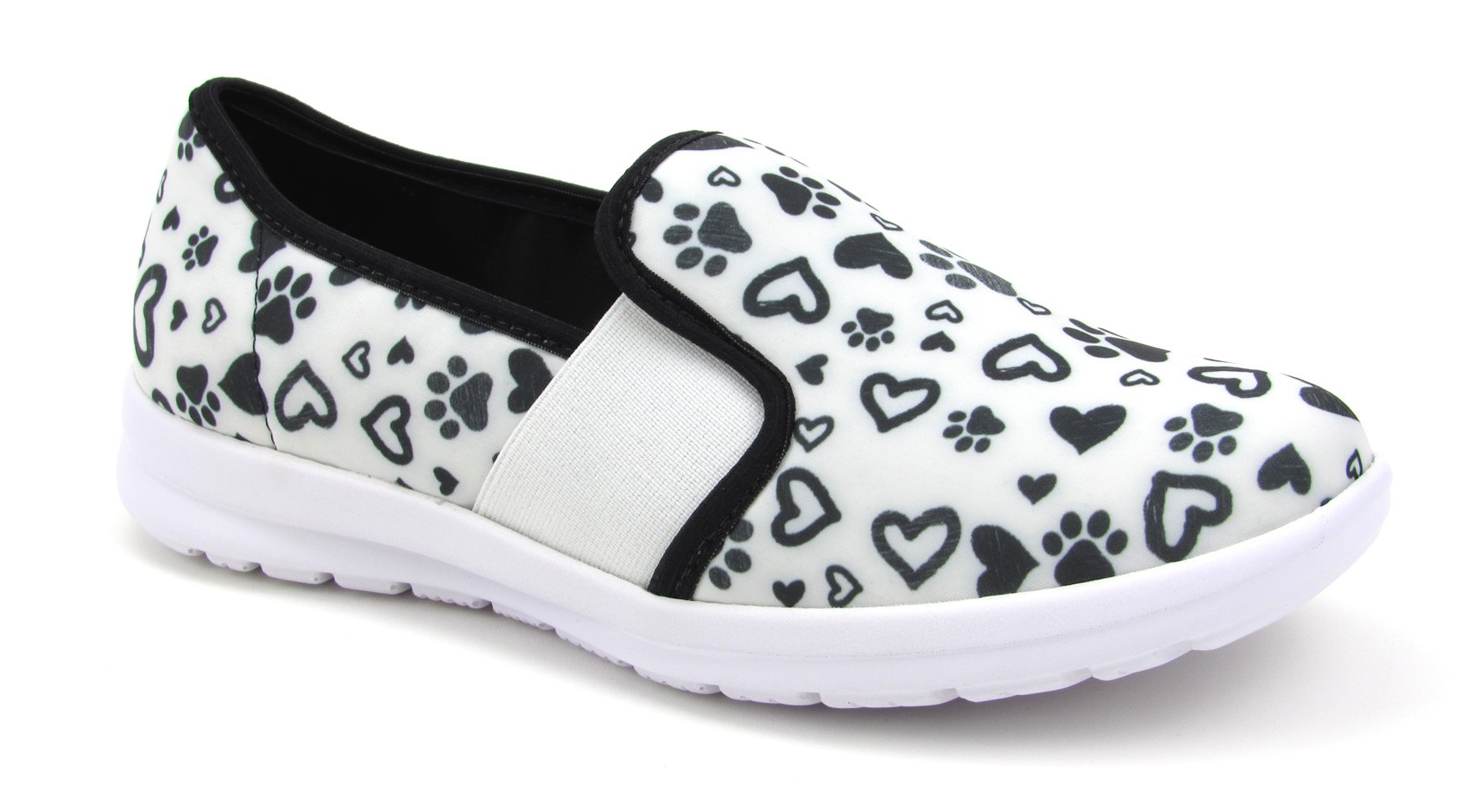 Florence Sunny - Paws and Hearts - Black with White