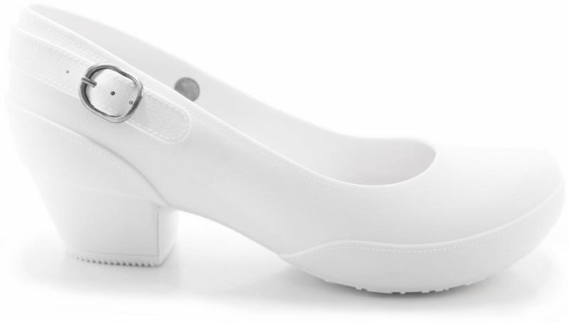 Women's Galicia Mary Jane Pumps- Comfortable Heels- White