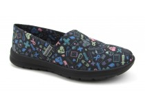 Florence Ocean - Black with Colorful Hospital Icons