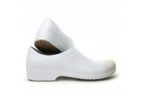 Man non-slip STICKY shoes whit toe cap - white