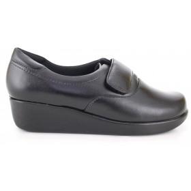 Leather Velcro Light Work Shoes 4203 - Black