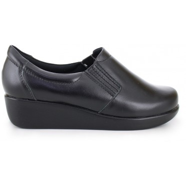 Leather Light Work Shoes 4201 - Black