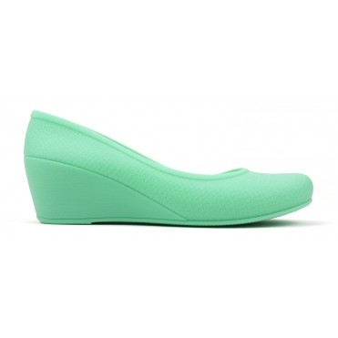 Women's Caren Comfortable Wedge Heels - Light Green