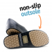 Man non-slip stickypro shoes whit toe cap - white - black