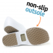 Man non-slip STICKY shoes whit toe cap - white
