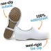 Woman non-slip stickypro shoes with toe cap - white