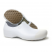 Woman non-slip STICKY shoes with toe cap - white