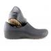 STICKY Woman non-slip shoes with semi-rigid toe cap - black