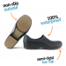 Woman non-slip STICKY shoes with toe cap - black