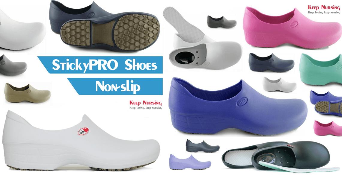 275852423eed Sticky Shoes Keep Nursing Waterproof Slip-Resistant Womens Cute Nursing  Shoes